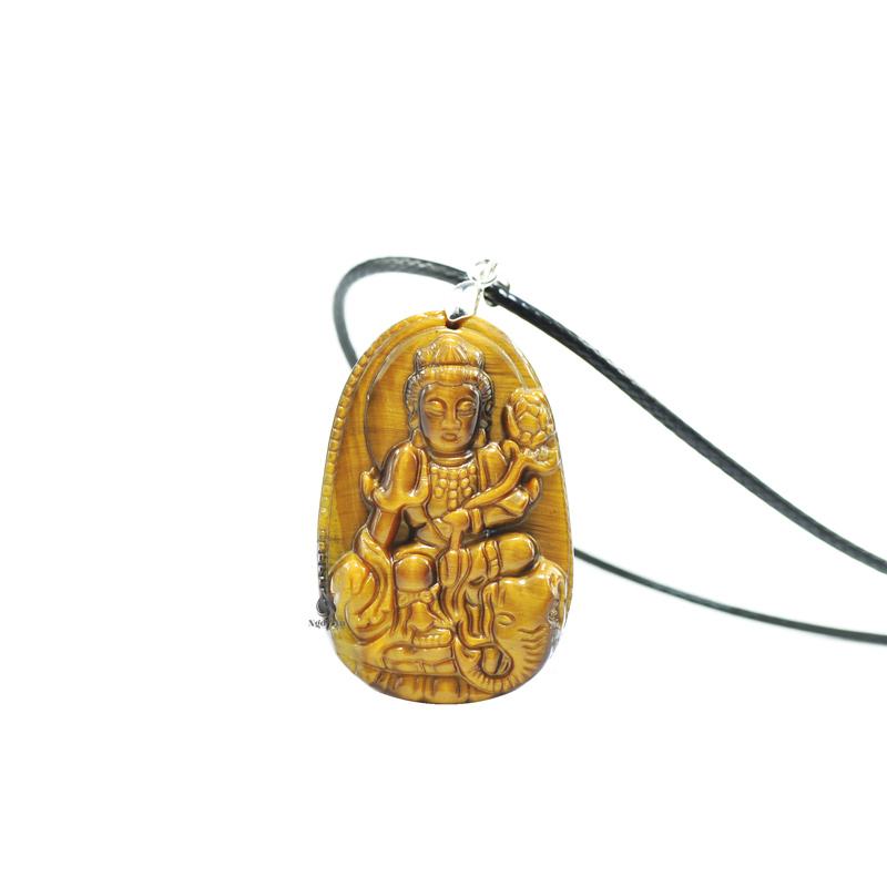 Phật bản mệnh phổ hiền bồ tát đá mắt hổ vàng nâu