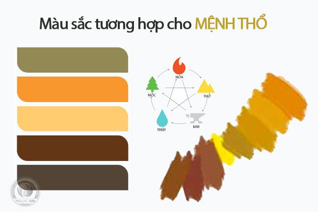 mau sac tuong hop voi menh tho%20%281%29 - Người mệnh thổ nên đeo vật phẩm phong thuỷ gì tốt nhất ?
