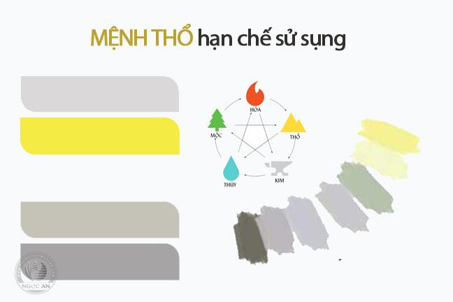 menh tho han che su dung mau cua hanh kim - Người mệnh thổ nên đeo vật phẩm phong thuỷ gì tốt nhất ?