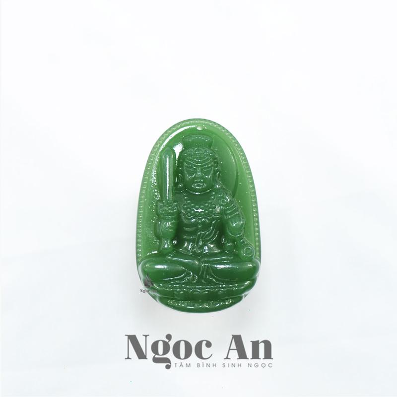 Phật bản mệnh tuổi dậu Bất động minh vương đá thạch anh xanh