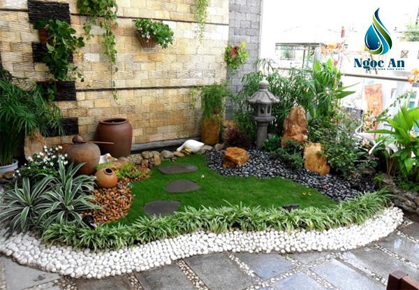sỏi sân vườn