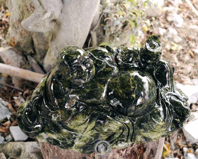 tượng phật di lạc đá serpentine