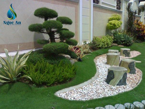 sỏi rải sân vườn 4