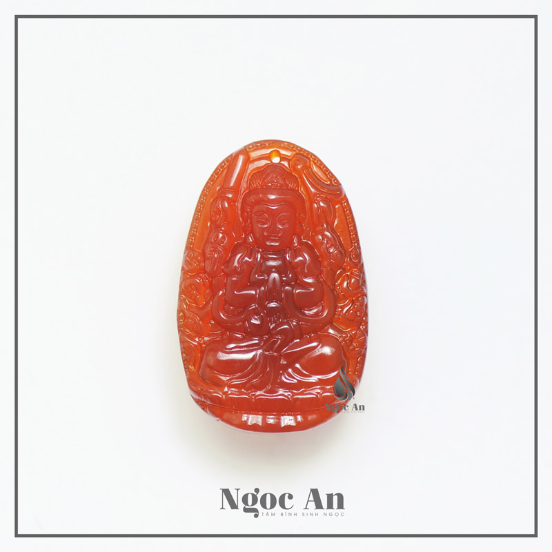 Phật bản mệnh tuổi tý đá mã não đỏ