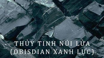 đá obsidian màu xanh