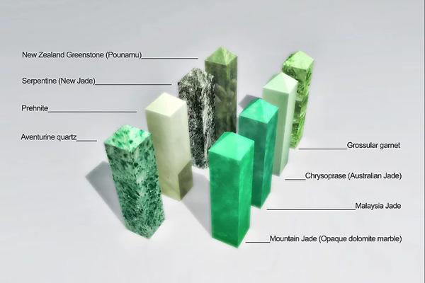 các loại đá có màu xanh tương tự ngọc bích