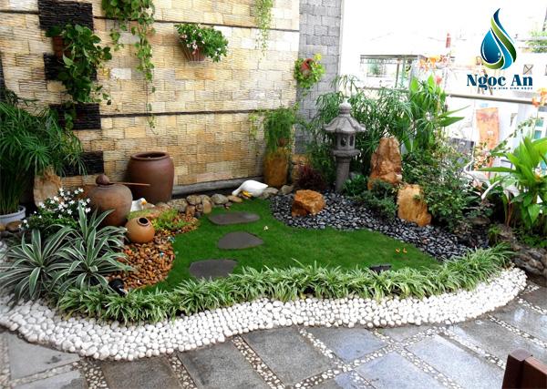sỏi rải sân vườn 2