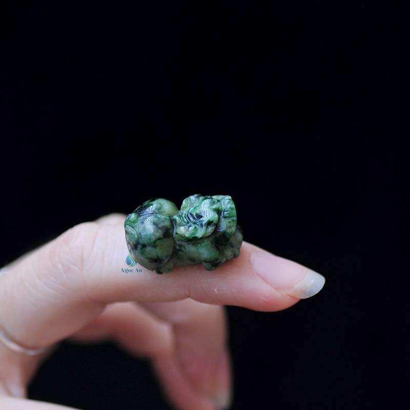 Mặt dây chuyền tỳ hưu đá cẩm thạch