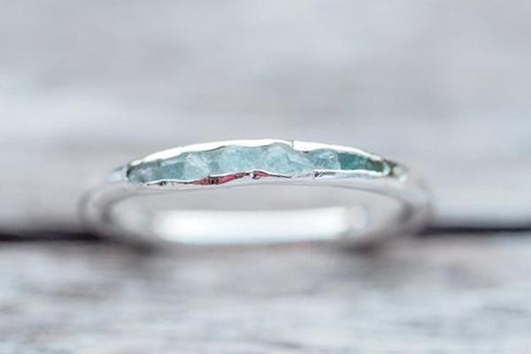 nhẫn đá Aqua