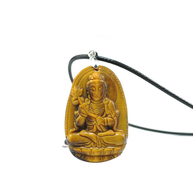 Phật bản mệnh đại thế chí bồ tát tuổi ngọ đá mắt hổ vàng nâu